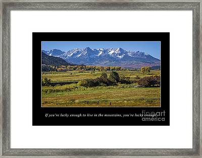 Mountain Living  Framed Print by Priscilla Burgers