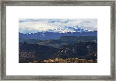 Mountain Majesty Framed Print by Brian Gustafson