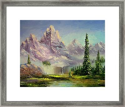 Mountain Majesty Framed Print by Lynda McDonald