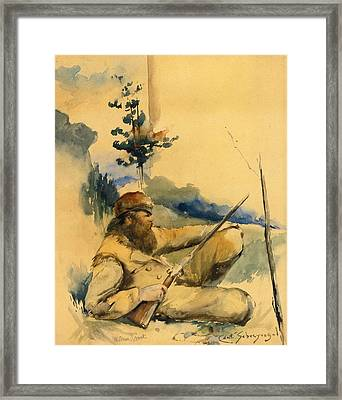 Mountain Man Framed Print by Charles Schreyvogel