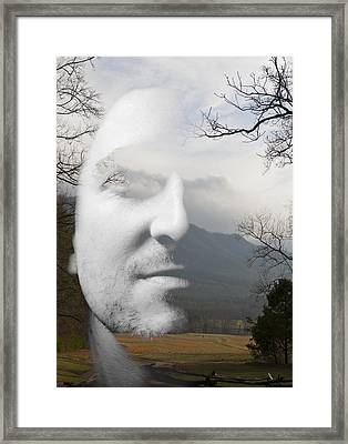 Mountain Man Framed Print by Christopher Gaston