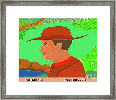 Mountain Man Framed Print by Fred Jinkins