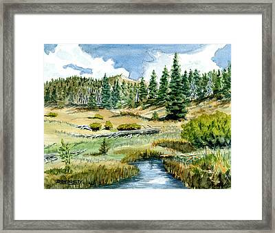 Mountain Meadow Framed Print by Don Bosley