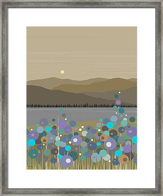 Mountain Meadow Morning Framed Print