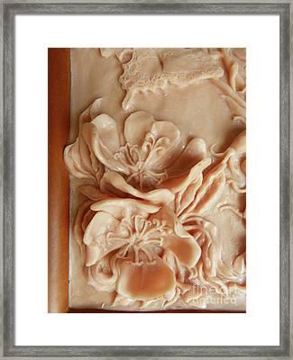 Mountain Meadow Original Clay - Primrose Detail Framed Print by Dawn Senior-Trask