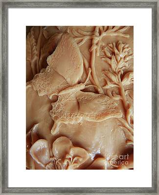 Mountain Meadow Original Clay Swallowtail Butterfly Detail Framed Print by Dawn Senior-Trask