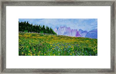 Mountain Meadow Wildflowers Framed Print