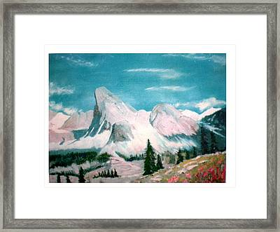 Mountain Meadows Framed Print by Hal Newhouser