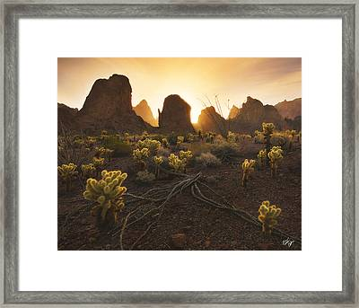 Mountain Minions Framed Print by Peter Coskun