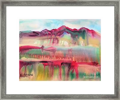 Mountain Mirage Framed Print by Teresa Ascone