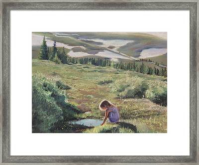 Mountain Mirror Framed Print
