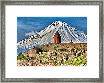 Mountain Monastery Framed Print by Dennis Cox WorldViews