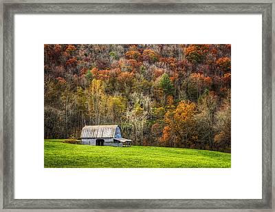 Mountain Mood Framed Print by Debra and Dave Vanderlaan