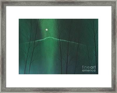 Mountain Moonlight Framed Print by Megan Richard