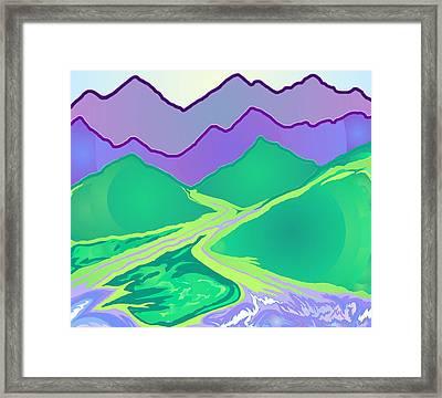 Mountain Murmurs Framed Print