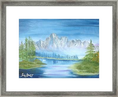 Mountain Mist Framed Print by Suzanne Surber