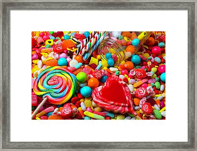 Mountain Of Candy Framed Print by Garry Gay