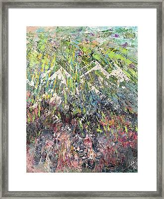 Mountain Of Many Colors Framed Print