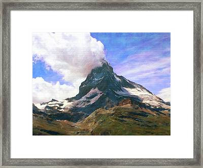 Framed Print featuring the photograph Mountain Of Mountains  by Connie Handscomb