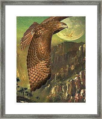 Mountain Of The Hawks Framed Print by Wingsdomain Art and Photography