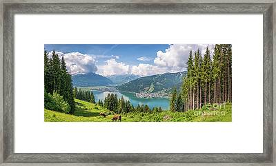 Mountain Panorama Beauty Framed Print by JR Photography