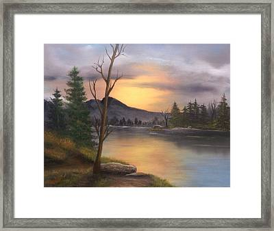 Mountain Paradise Framed Print by Sheri Keith
