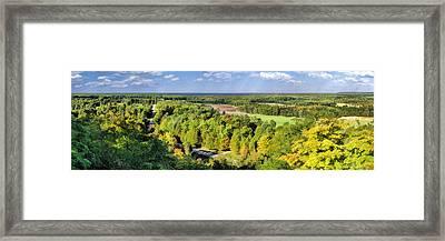 Mountain Park Lookout Panorama On Washington Island Door County Framed Print