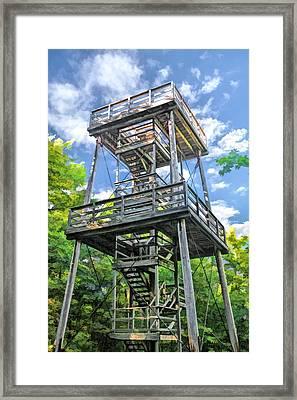 Mountain Park Lookout Tower On Washington Island Door County Framed Print