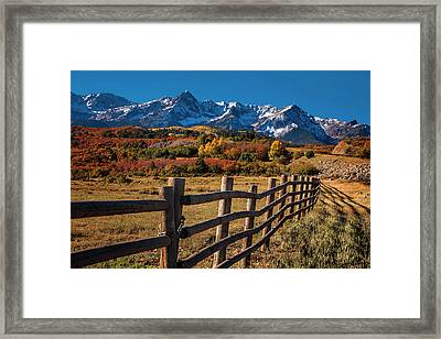Mountain Pastures Framed Print by Andrew Soundarajan