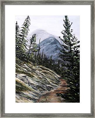 Framed Print featuring the painting Mountain Pathway by Patricia L Davidson