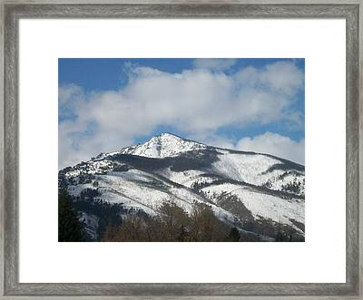 Mountain Peak Framed Print by Jewel Hengen