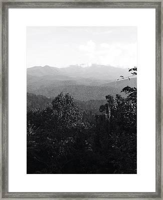 Mountain Peak Framed Print by Raven Moon