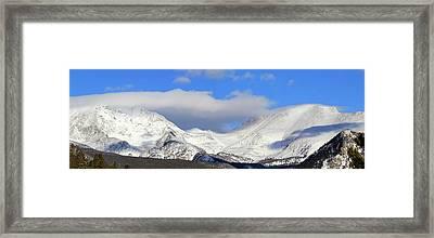 Mountain Peaks - Panorama Framed Print
