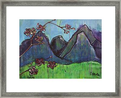 Mountain Pose Framed Print by Laurie Maves ART