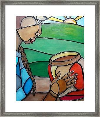 Mountain Potter Framed Print by Jenny Pickens