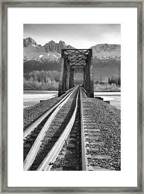 Mountain Rail Framed Print