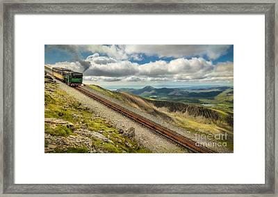 Mountain Railway Framed Print by Adrian Evans