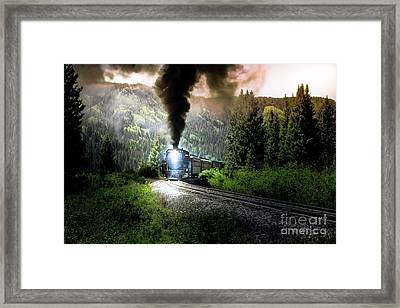 Framed Print featuring the photograph Mountain Railway - Morning Whistle by Robert Frederick