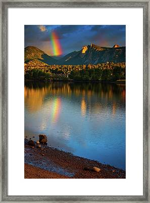 Mountain Rainbows Framed Print