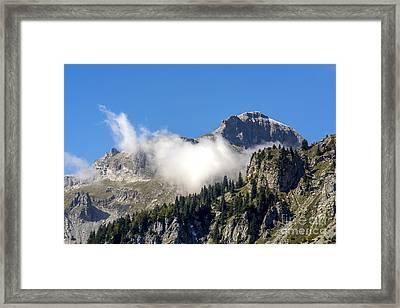 Mountain Range. France Framed Print