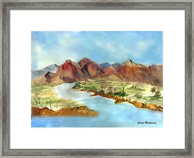 Mountain Range Framed Print by George Markiewicz