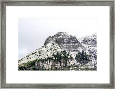 Mountain Range Snow Covered Framed Print