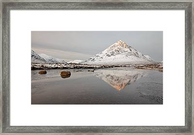 Mountain Reflection On The River Etive Framed Print