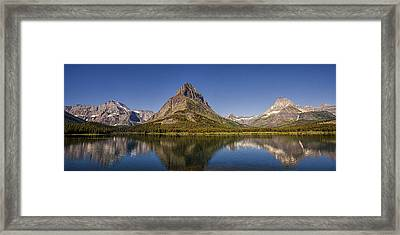 Mountain Reflection Panorama Framed Print by Andrew Soundarajan