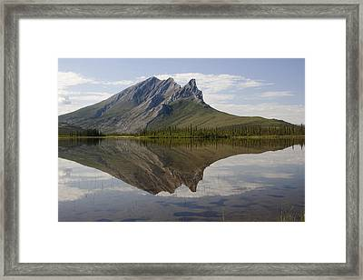 Mountain Reflection Framed Print by Tim Grams