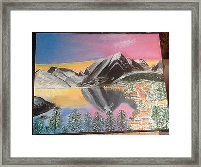 Mountain Reflections Framed Print by Audrey Pollitt