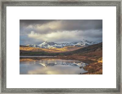 Mountain Reflections Framed Print by Chris Fletcher
