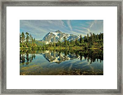 Mountain Reflections Framed Print by Marv Russell