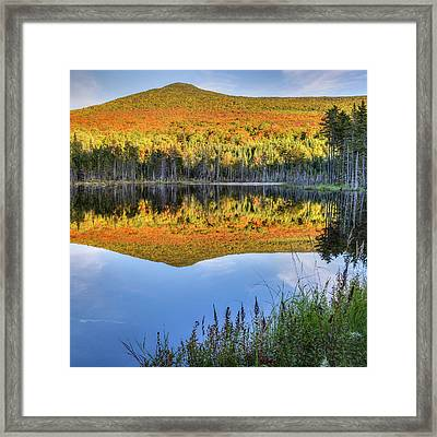 Mountain Reflections Square Framed Print