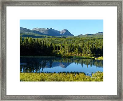 Mountain Reflections Yukon Wilderness Framed Print by Teresa A and Preston S Cole Photography